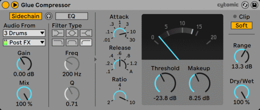 Ableton Live The Glue Compressor With Sidechain Section.png