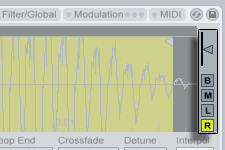 Ableton live The Sample Tab's Vertical Zoom slider, and Channel Buttons.png