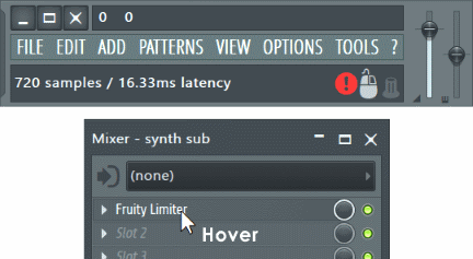 Fl studio Mixer delay view.png