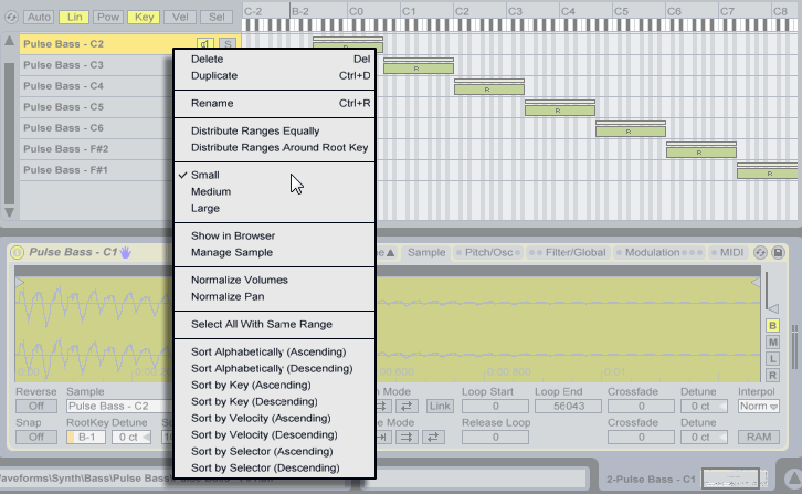 Ableton live The Sample Layer List Context Menu.png