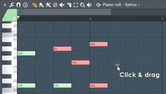 Fl Studio Selection Stretch Handle.png