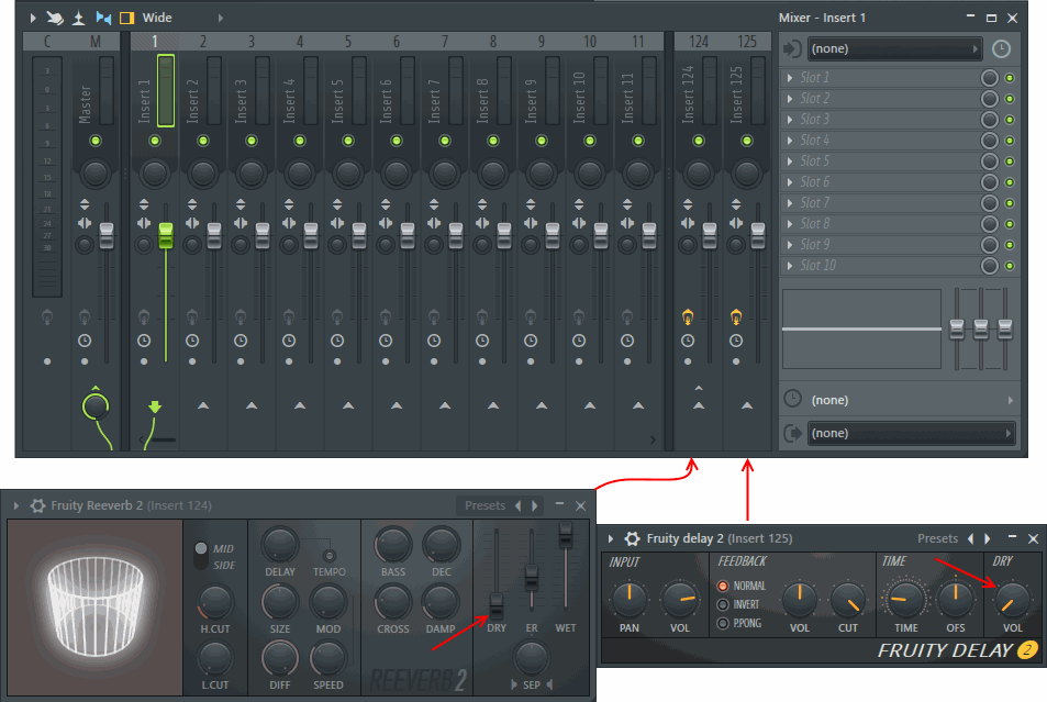 Fl studio mixer send.png