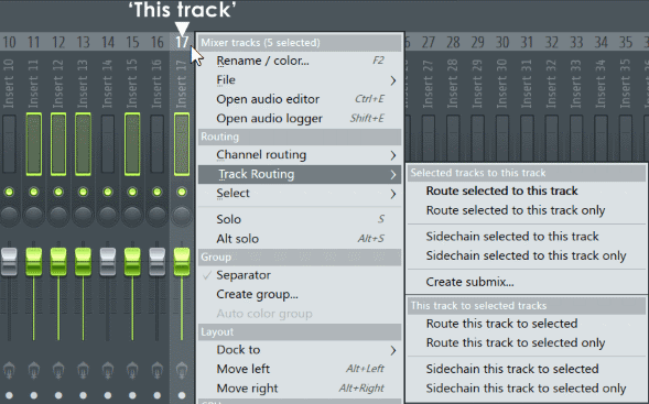 Fl studio Mixer Multiple Track.png